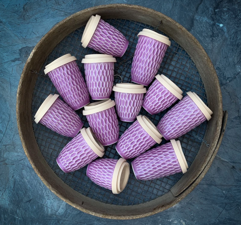 Reusable Ceramic Cup 8oz / Lavender Planet