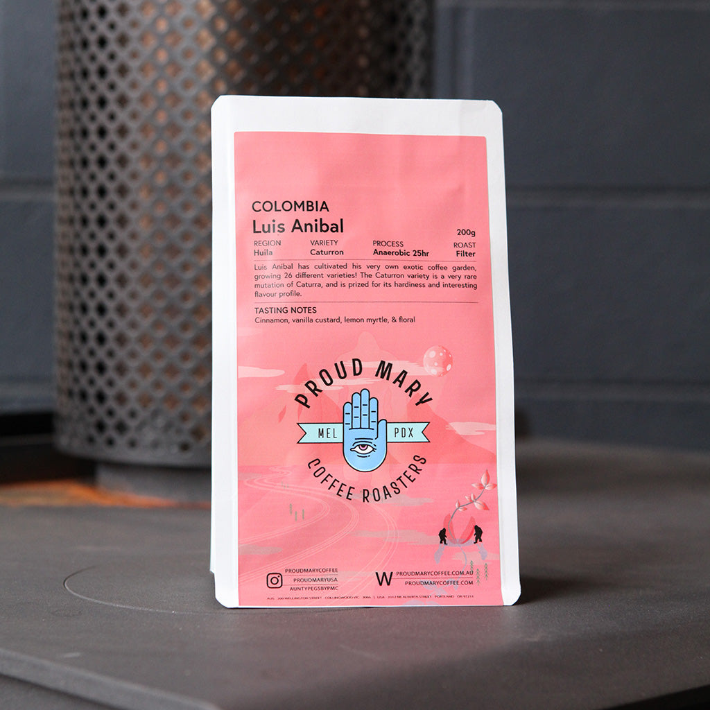 Colombia | Luis Anibal | Caturron | Anaerobic Washed 25hr | Filter | 200g - Proud Mary Coffee Melbourne