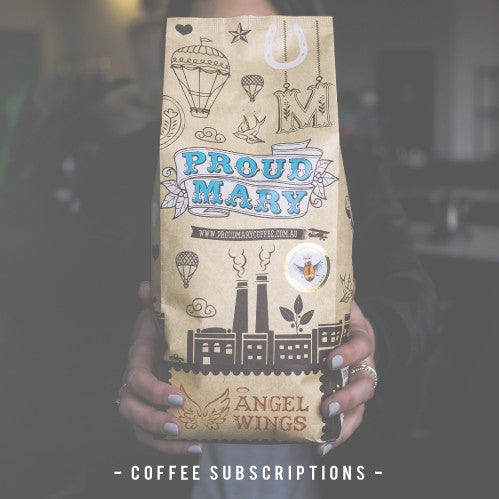 Proud Mary Coffee Sunscriptions for home or the office - save 20%!