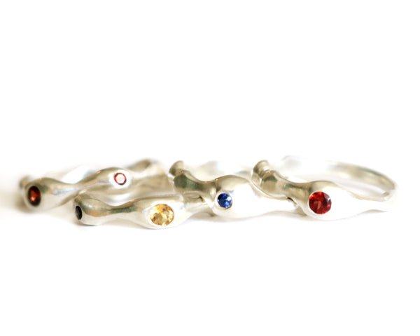 Sterling Silver Rings Eternity Olivia de Soria