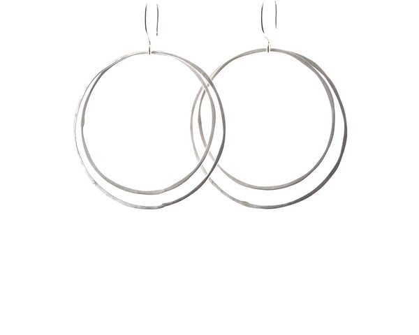 Silver Hoop Earrings | Olivia de Soria