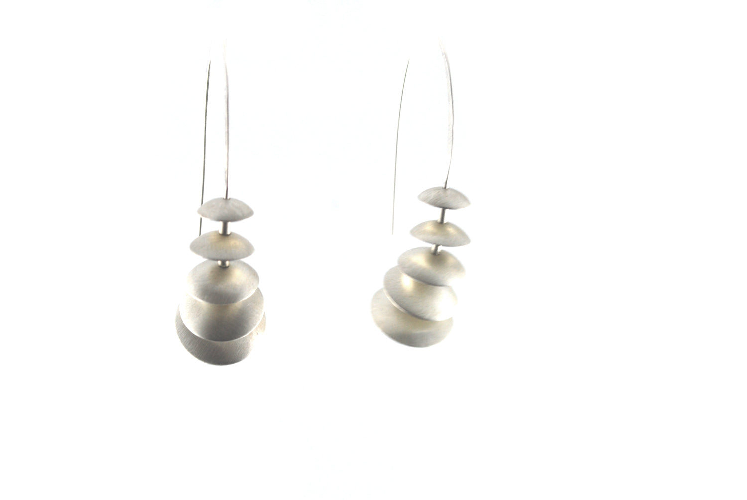 Silver Graduating Dome Earrings | Olivia de Soria