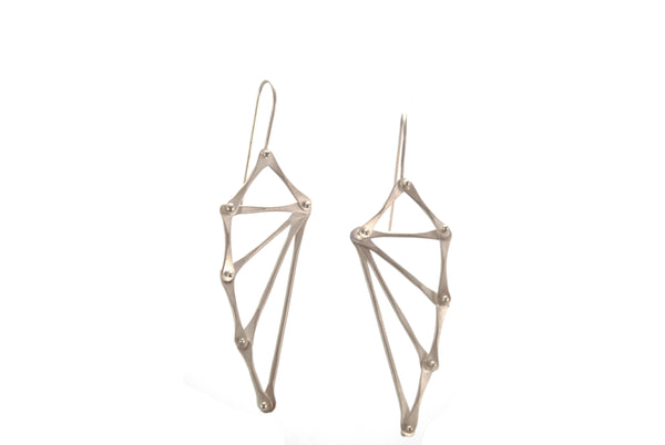 Silver Batwing Earrings | Olivia de Soria