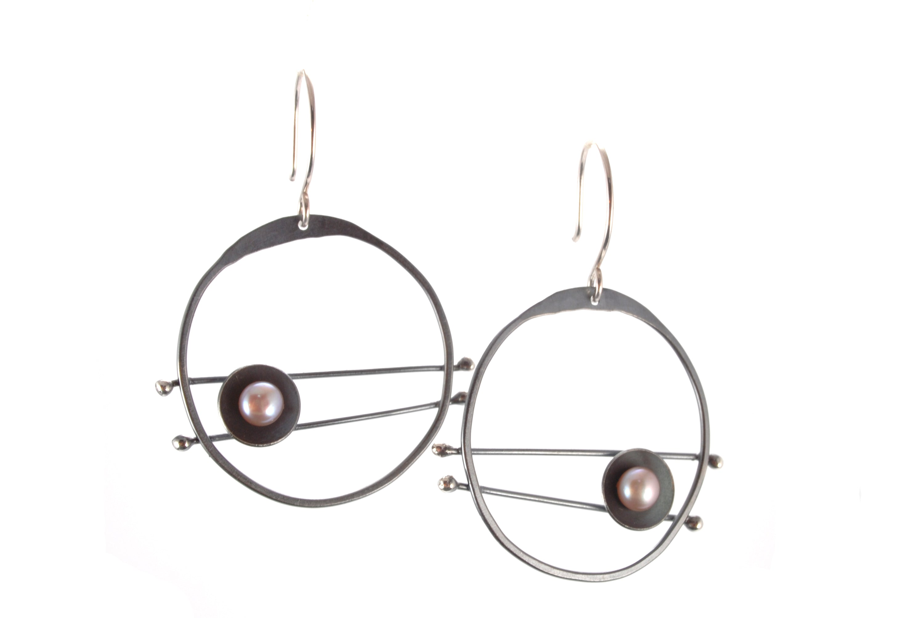 Oxidized Evil Eye Earrings Olivia de Soria