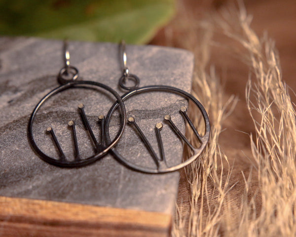 Circle Sprout Earrings