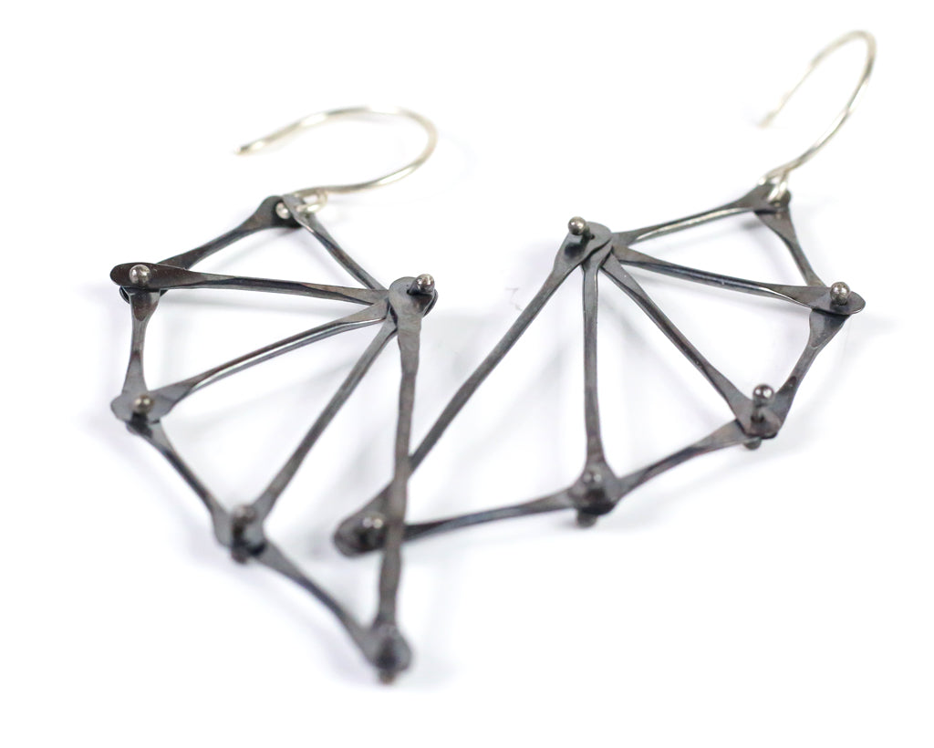 Oxidized Batwing Earrings Olivia de Soria