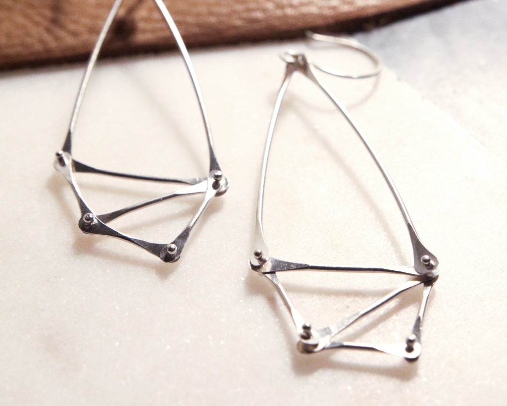Silver Geometric Earrings | Olivia de Soria