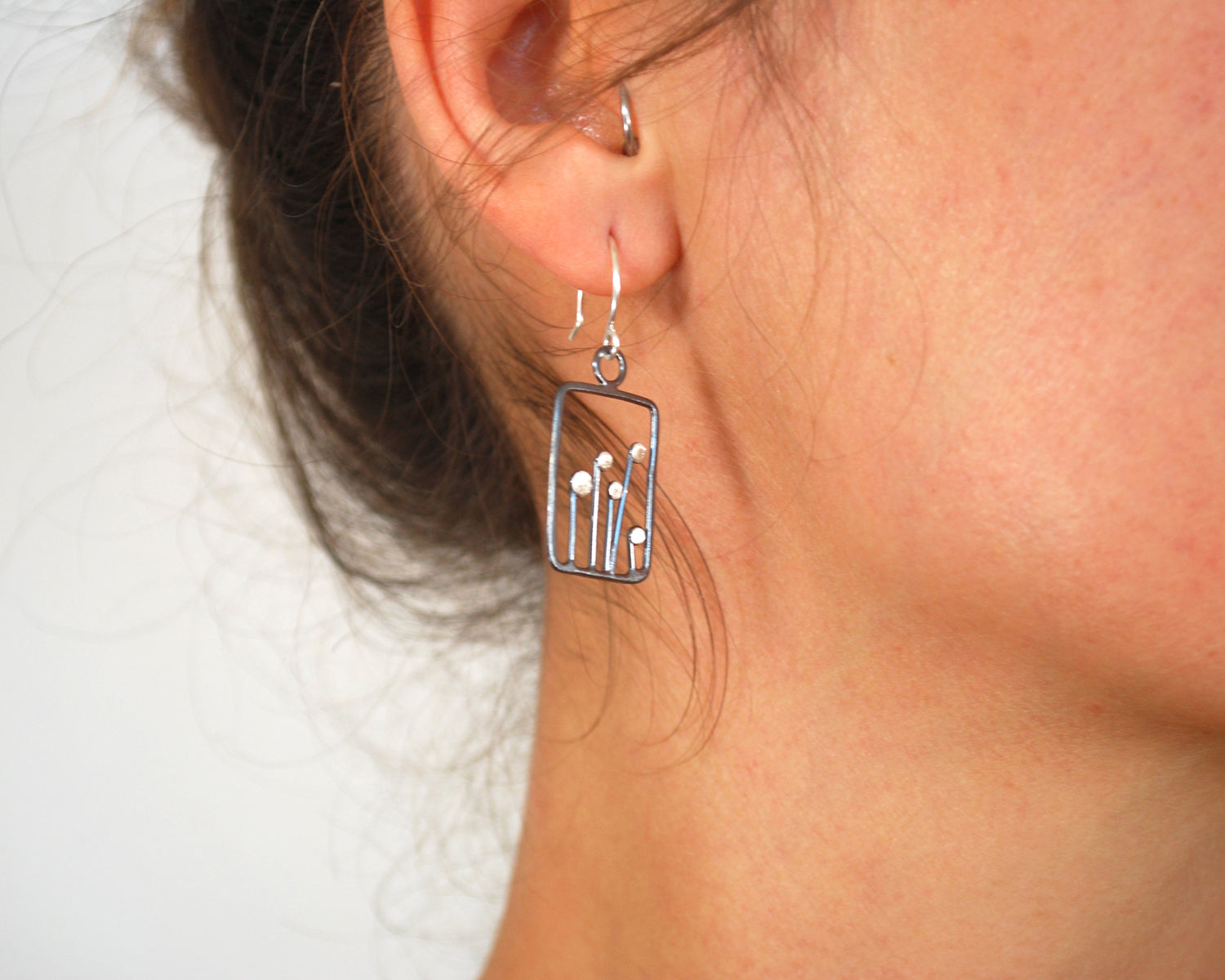 Square Sprout Earrings | Olivia de Soria