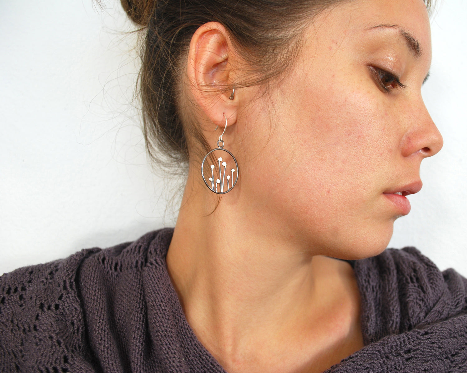 Circle Sprout Earrings Olivia de Soria