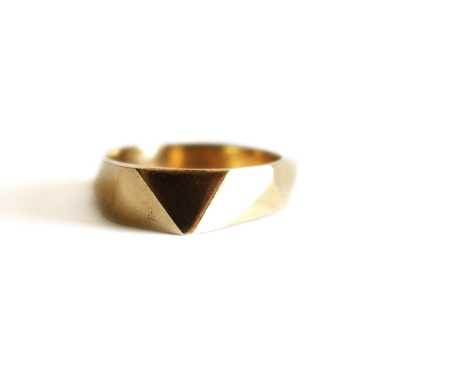 Brass Faceted Ring Olivia de Soria