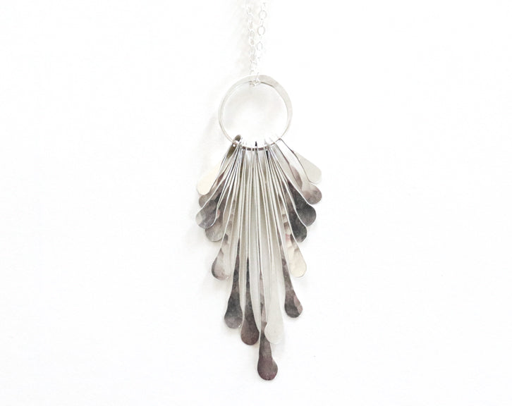 Modern Silver Jewelry Necklace Olivia de Soria