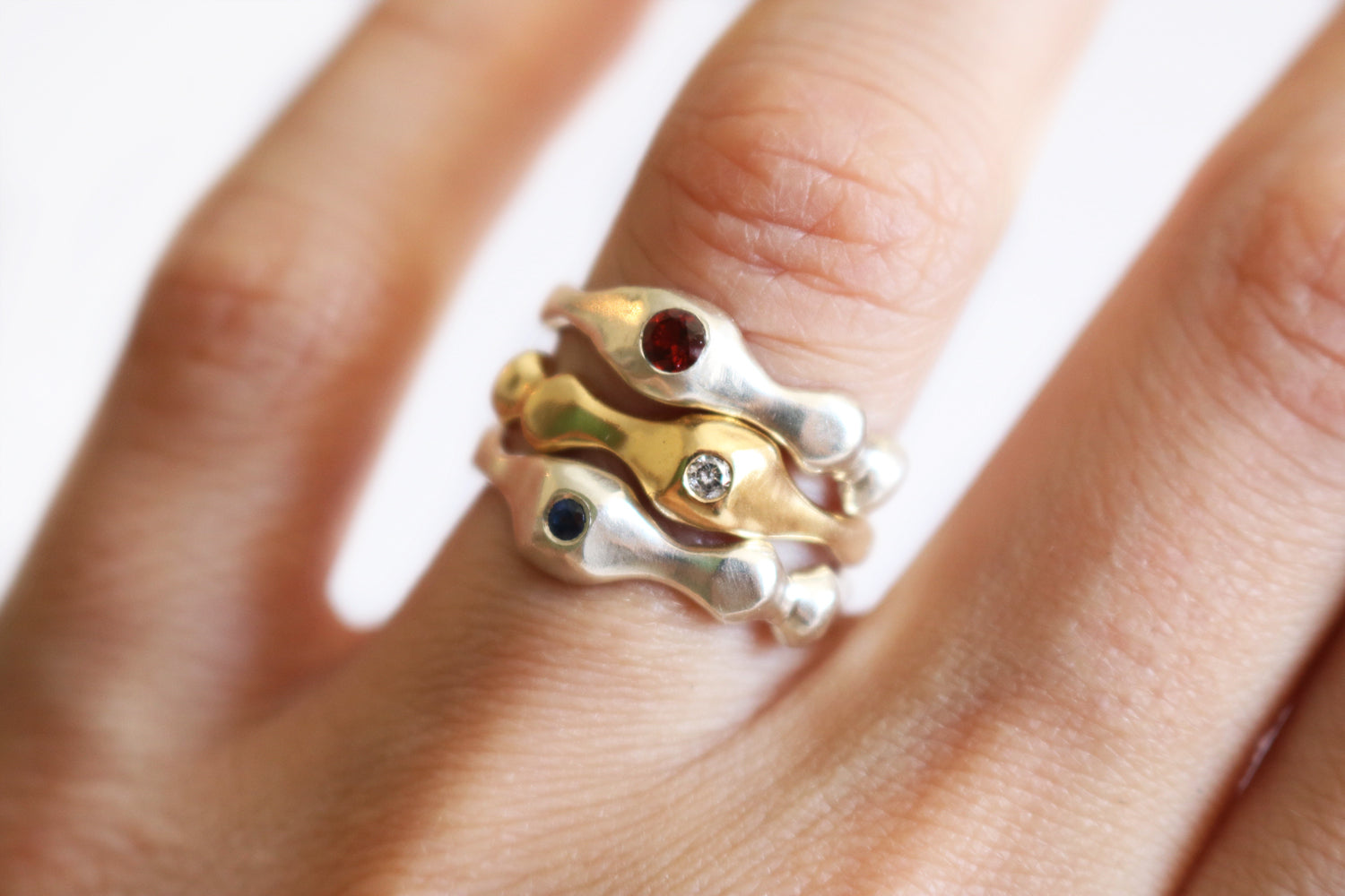 18K Anenome Ring
