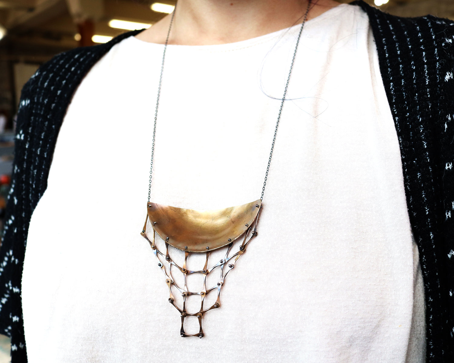 Brass Armor Necklace Olivia de Soria