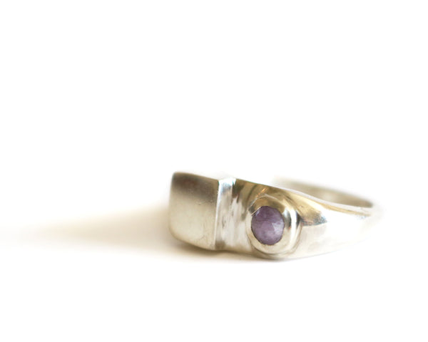 Square and Bezel Ring
