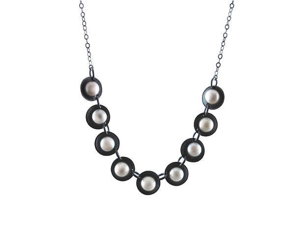 Nine Pearls Necklace Olivia de Soria