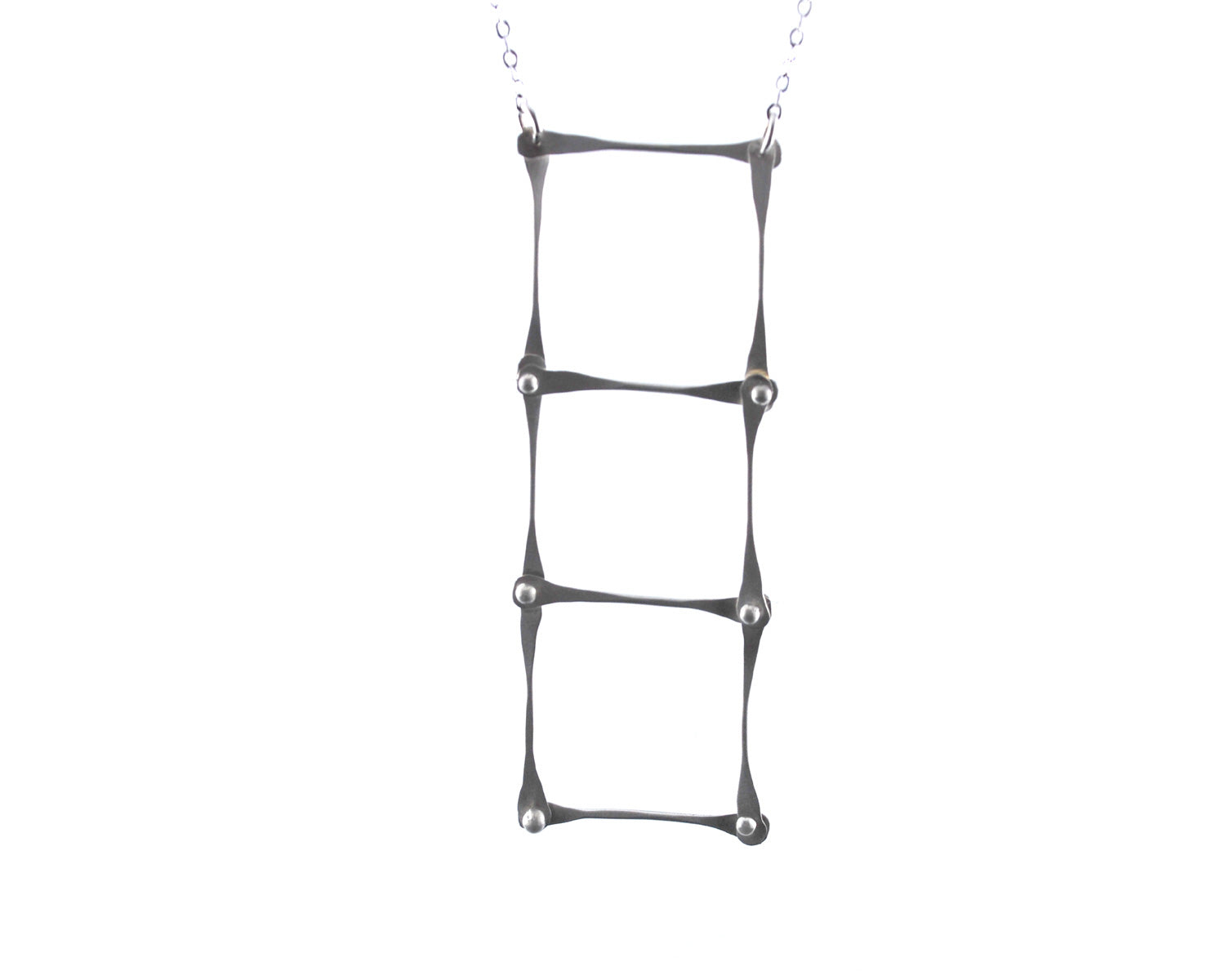 Silver Ladder Necklace | Olivia de Soria