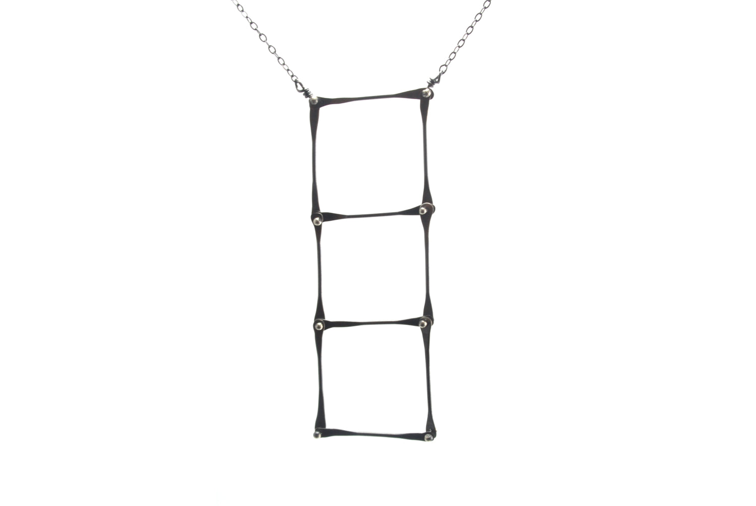Oxidized Silver Ladder Necklace | Olivia de Soria