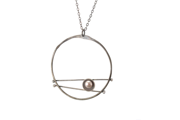 Oxidized Evil Eye Necklace Olivia de Soria