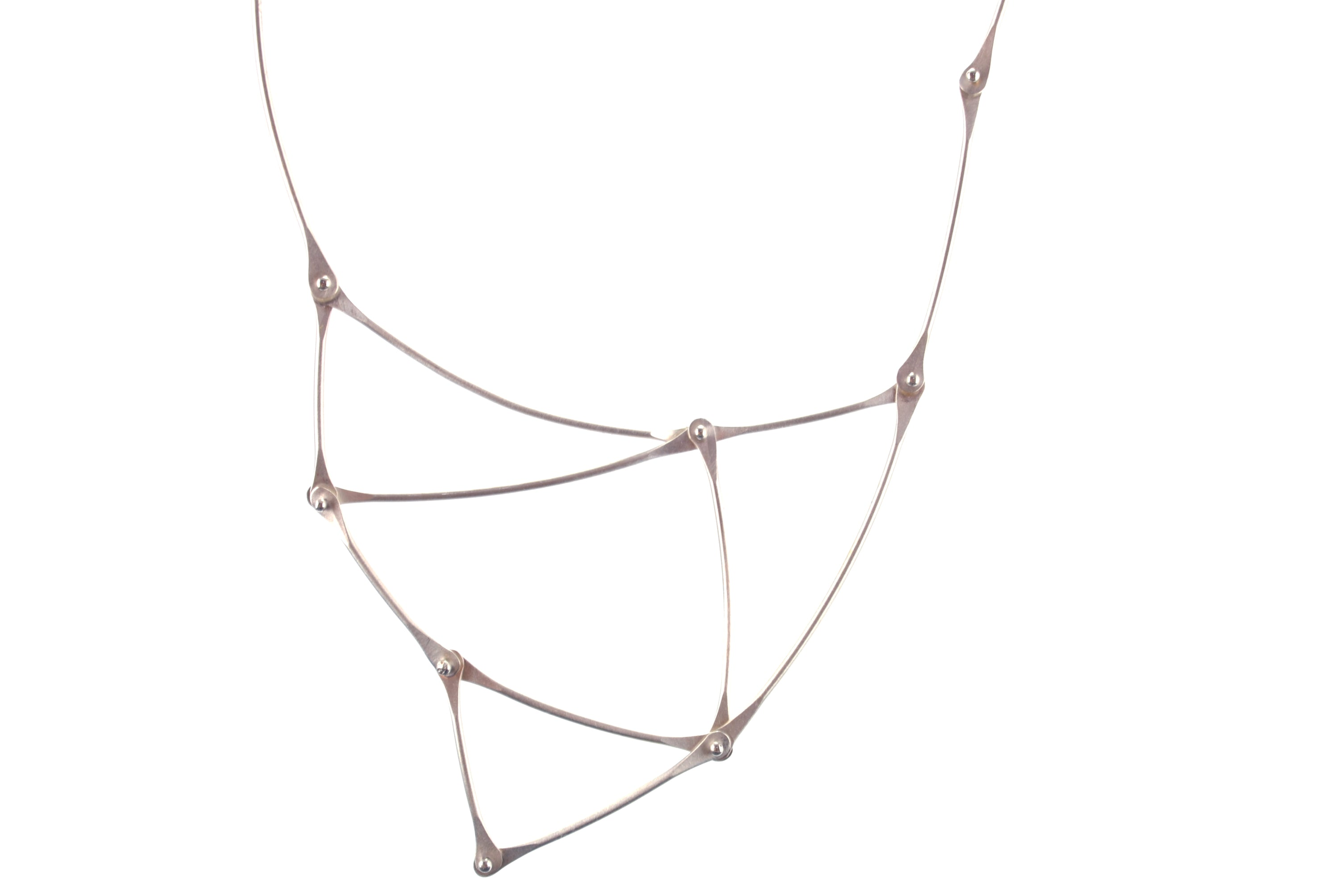 Silver Kinetic Triangle Necklace | Olivia de Soria