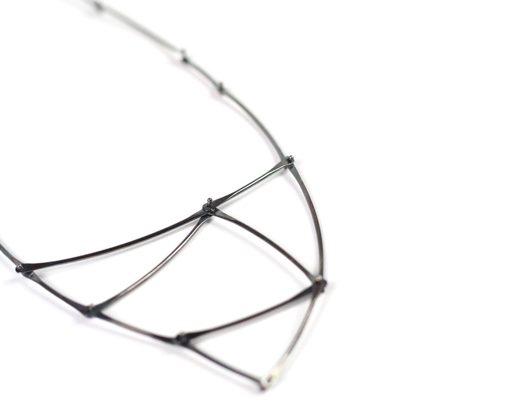 Oxidized Kinetic Triangle Necklace Olivia de Soria