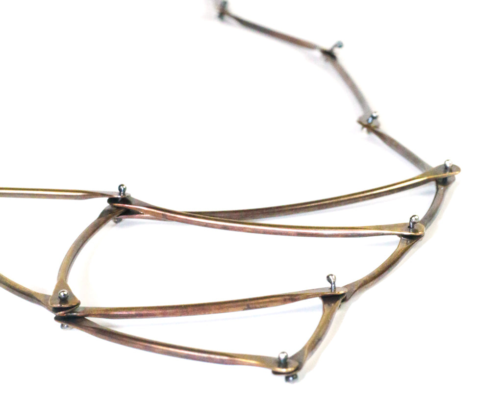 Triangular Brass Kinetic Necklace