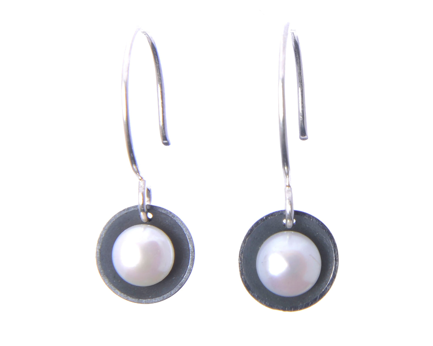 Pearl on French Wire Earrings | Olivia de Soria