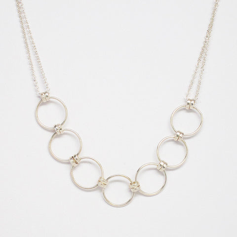 Mother's Day Silver Ring Necklace (pick the # of rings)