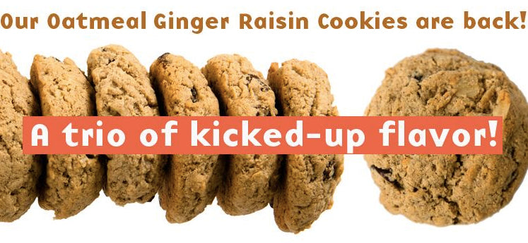 The Protein Bakery Oatmeal Ginger Raisin Cookies are Back!