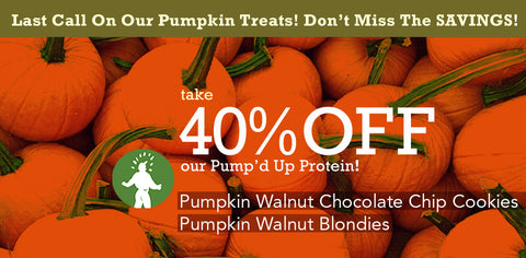 Last Call for The Protein Bakery Pumpkin Products!