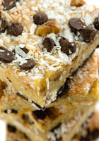 Coconut Walnut Dark Chocolate Chip Blondie