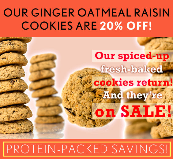 Our Ginger Oatmeal Raisin Cookies are 20% off!