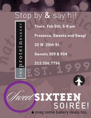 Stop by and say hi! Prosecco, sweets, and swag!