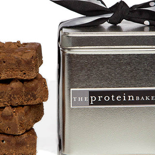Chocolate Chip Brownie Mini Square Tin - Protein Bakery