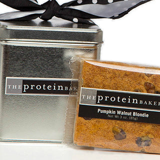 Pumpkin Walnut Blondie Square Tin (Seasonal) - Protein Bakery