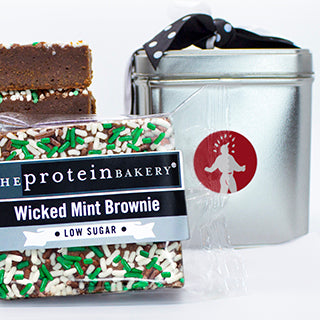 Wicked Mint Brownie Square Gift Tin- Low Sugar