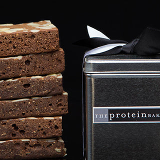 The Protein Bakery Almond Brownie Square Tin (Low Sugar)