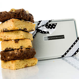 Brownie & Blondie Assorted Gift Tin (Wholesale) - Protein Bakery