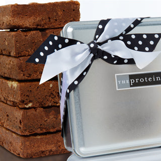 Assorted Brownie Gift Tin Box - The Protein Bakery