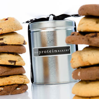 Cookie Assortment Silver Pint Tin - Protein Bakery
