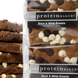 Black and White Brownie Six-Pack Gift Bag - Protein Bakery