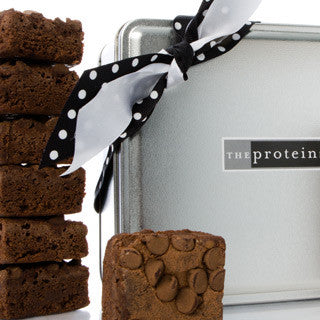 Chocolate Chip Brownie Mini Gift Tin Box - Protein Bakery
