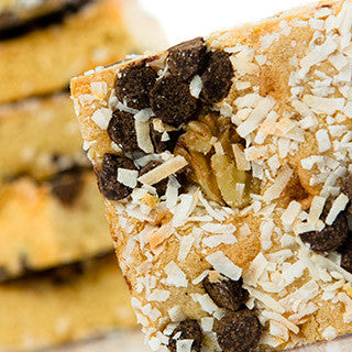 Coconut Walnut Dark Chocolate Chip Blondie Six-Pack Gift Bag - Protein Bakery