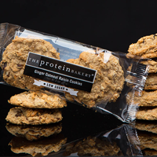 The Protein Bakery Ginger Oatmeal Raisin Low Sugar Cookie