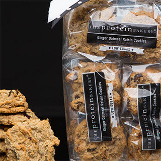 The Protein Bakery Ginger Oatmeal Raisin Cookies Six Pack Gift Bag(Low Sugar)