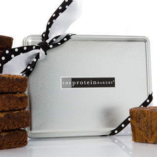 Peanut Butter Brownie Mini Gift Tin Box - Protein Bakery