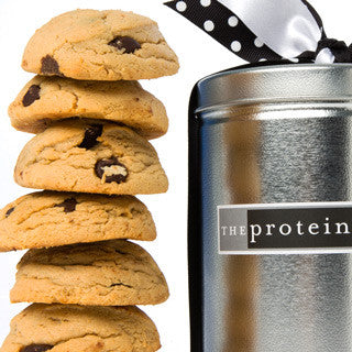 Peanut Butter Chocolate Chip Cookie Silver Pint Tin - Protein Bakery