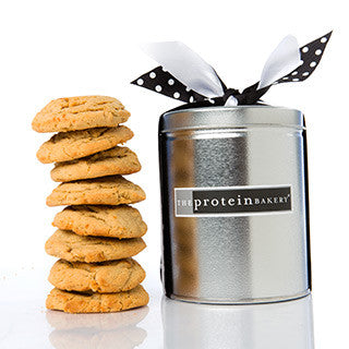 Peanut Butter Cookie Silver Pint Tin - Protein Bakery
