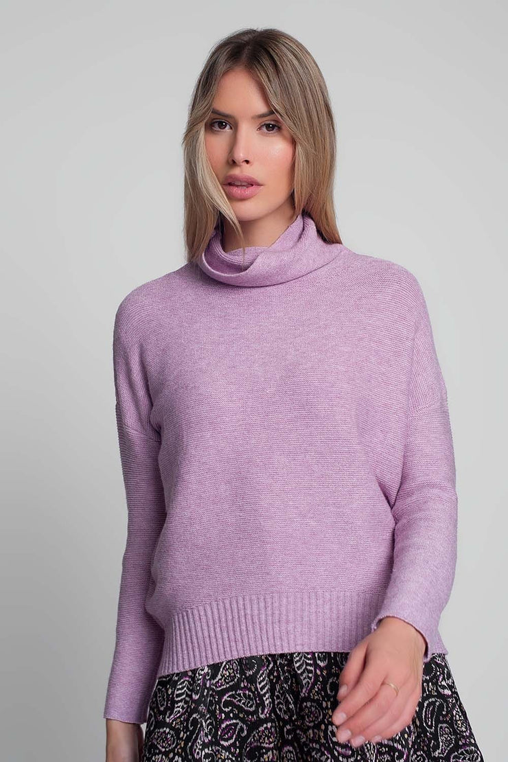 Oversized sweater With Cowl Neck