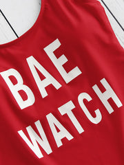 Maillot de bain Bae Watch à imprimé graphique
