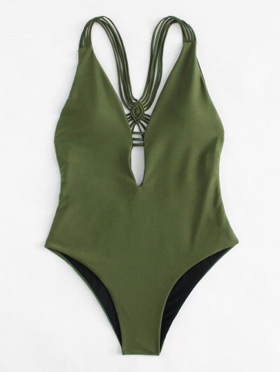 Nolama Backless Woven Swimsuit